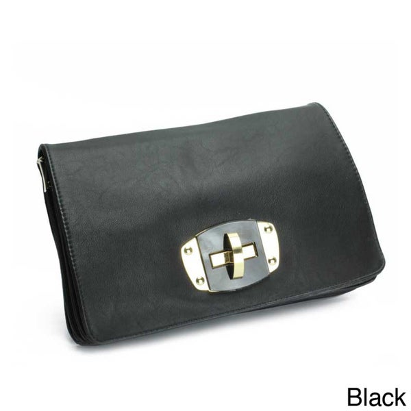 Street Level Faux Leather Convertible Crossbody Clutch