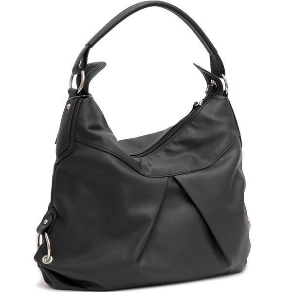 Dasein Classic Fashion Faux Leather Hobo Handbag