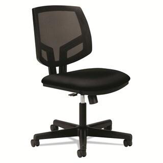 HON Volt Upholstered Task Chair - Mesh Back Computer Chair for Office Desk, Black (HON5713GA10T)