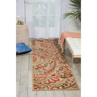 Shop Nourison Graphic Illusions Paisley Red Multicolor Rug