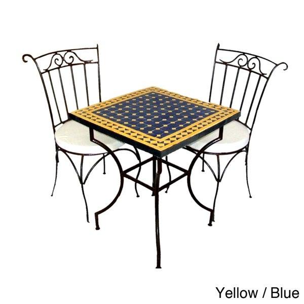 Square Iron Mosaic Dining Set (Morocco)