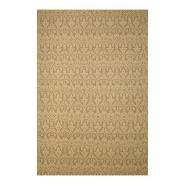 Indo Hand-tufted Flat Weave Beige/ Ivory Kilim Rug (5'6 x 8')