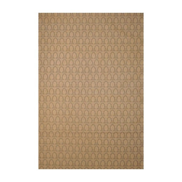 Indo Hand-Tufted Flat Weave Quarter-Inch Beige/Ivory Kilim Rug (5'6 x 8')