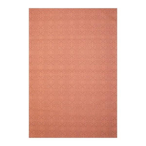 Indo Hand-tufted Flat Weave Light Purple/ Beige Kilim Rug (5'6 x 8')
