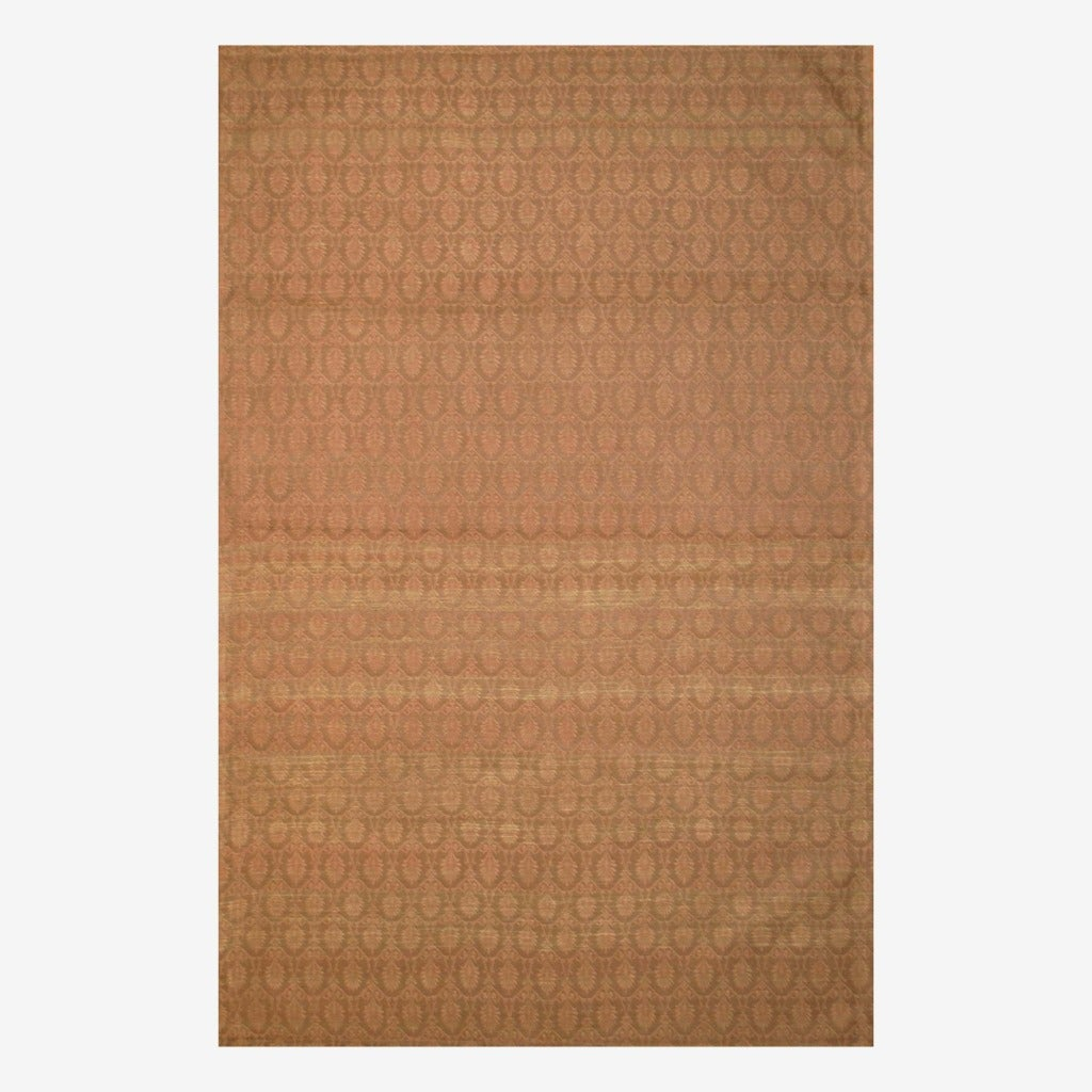 Herat Oriental Contemporary Indo Hand-tufted Flat-Weave Brown/ Light Brown Kilim Wool Rug (5'6 x 8')