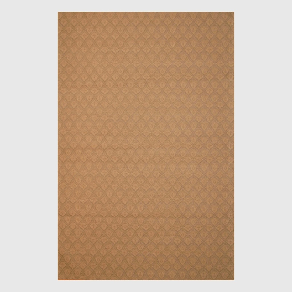 Herat Oriental Indo Hand-tufted Flat Weave Brown/ Beige Kilim Rug (5'6 x 8')