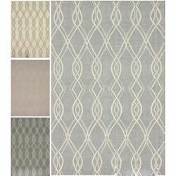 nuLOOM Handmade Kilim Trellis Flatweave Wool Rug (8' x 10')