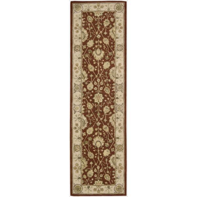 Nourison 3000 Hand-tufted Rust Wool Rug (2'3 x 8') Runner