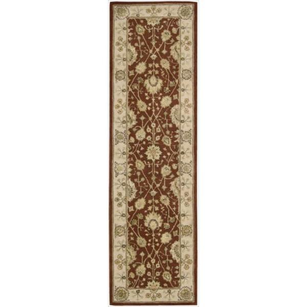 shop nourison 3000 hand tufted rust wool rug 2 39 3 x 8 39 runner on sale free shipping today. Black Bedroom Furniture Sets. Home Design Ideas