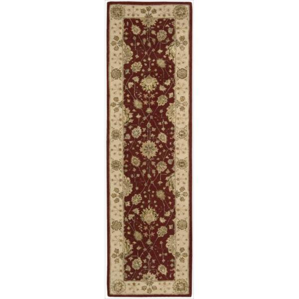 Nourison 3000 Hand-tufted Red Wool Rug (2'3 x 8') Runner