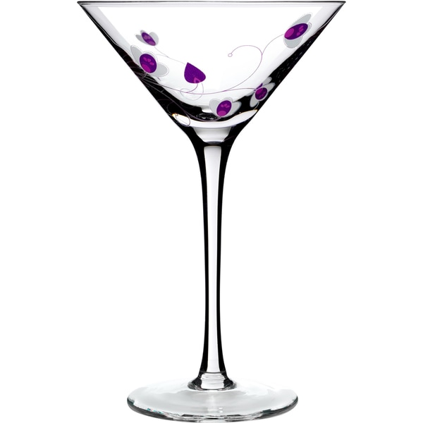 Social Ave by Luigi Bormioli Purple UR Vino 8-ounce Martini Glasses (Set of 2)