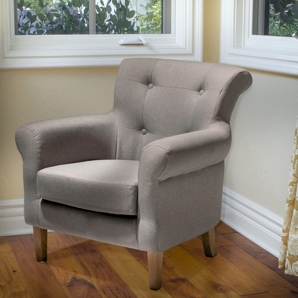 Bardow Grey Fabric Chair by Christopher Knight Home