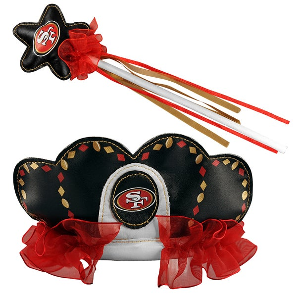 Bleacher Creatures San Francisco 49ers Tiara Wand Set