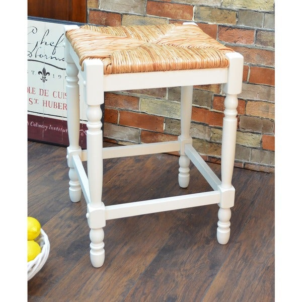 24 Inch Antique White Morgan Counter Stool Free Shipping