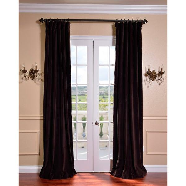 Exclusive Fabrics Kona Brown Vintage Cotton Velvet Curtain