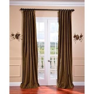 Exclusive Fabrics Burnt Olive Vintage Cotton Velvet Curtain