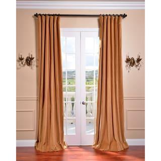 Exclusive Fabrics Old Gold Vintage Cotton Velvet Curtain