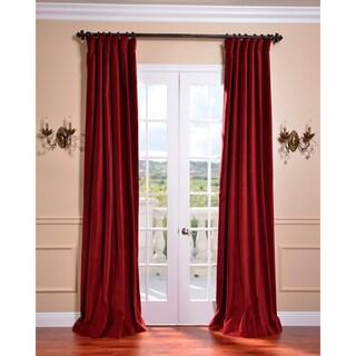 Shop Exclusive Fabrics Claret Red Vintage Cotton Velvet Curtain Overstock 7294811