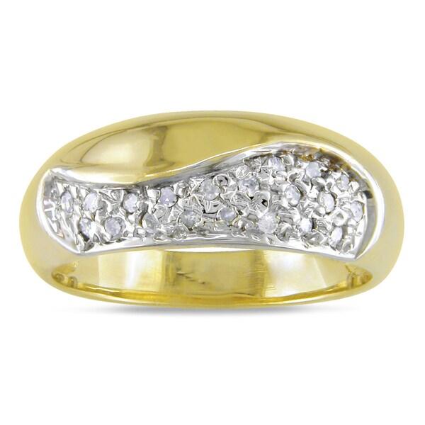 Miadora 10k Yellow Gold 1/4ct TDW Diamond Ring (H-I, I2-I3)