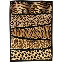 Skinz Design Aminal Skin Prints Horizontal Patchwork Area Rug (5' x 7')