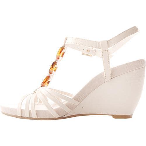 Women's Bandolino Nevina White/Dark Brown Leather
