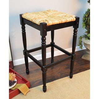 Antique Black 30-inch Bar Stool