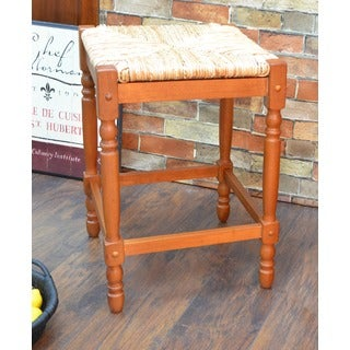 Walnut Finish 24-inch Counter Stool