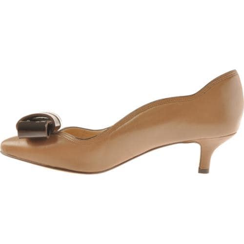 Women's Joan & David Beatriz Taupe/Dark Brown Leather