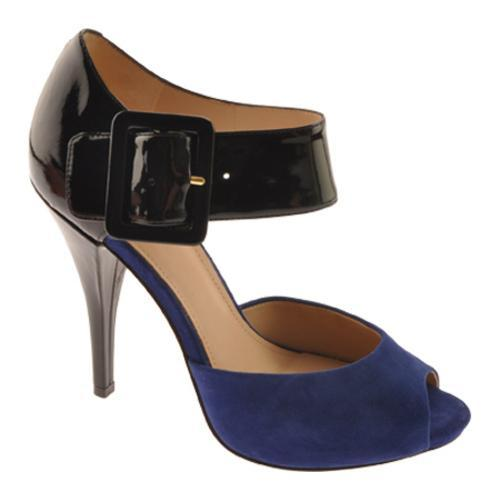 Women's Joan & David Ozya Black/Blue Patent