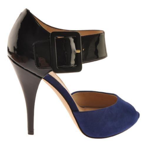 Women's Joan & David Ozya Black/Blue Patent - Thumbnail 1