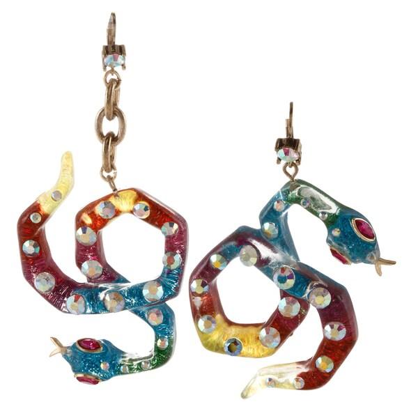 Betsey Johnson Snake Wrap Dangle Earrings