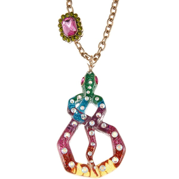 Betsey Johnson Large Wrap Snake Pendant Necklace