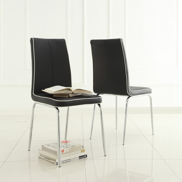 MID-CENTURY LIVING Matilda Black Retro Modern Dining Chair (Set of 2)