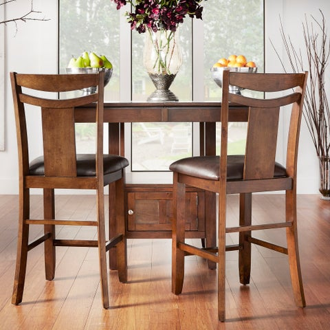 Marsden Dark Brown 24-inch High Back Counter Height Stool (Set of 2) by iNSPIRE Q Classic