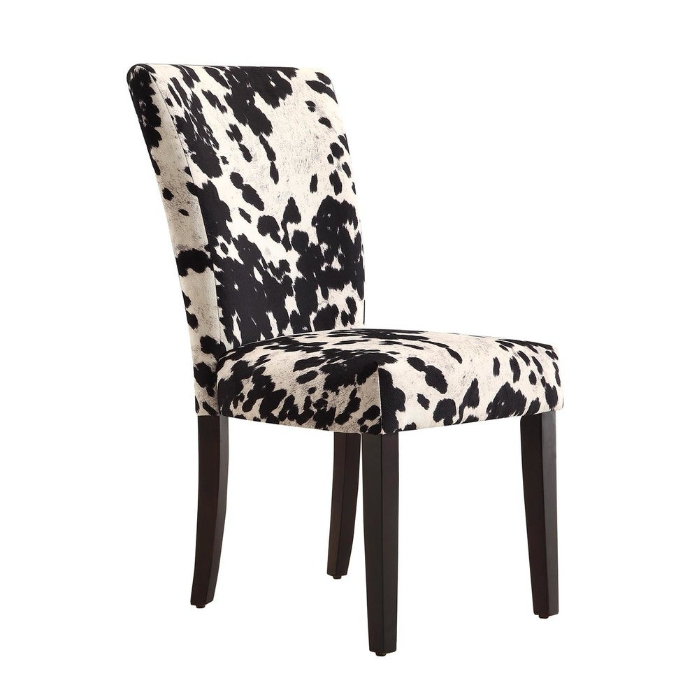 Portman Cow Hide Parson Dining Chairs Set Of 2 By Inspire Q Bold Overstock 20602809