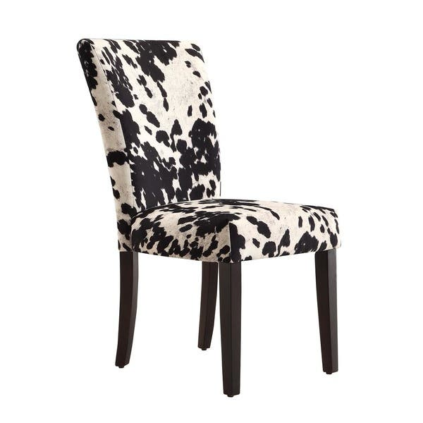 Awe Inspiring Shop Portman Cow Hide Parson Dining Chairs Set Of 2 By Bralicious Painted Fabric Chair Ideas Braliciousco