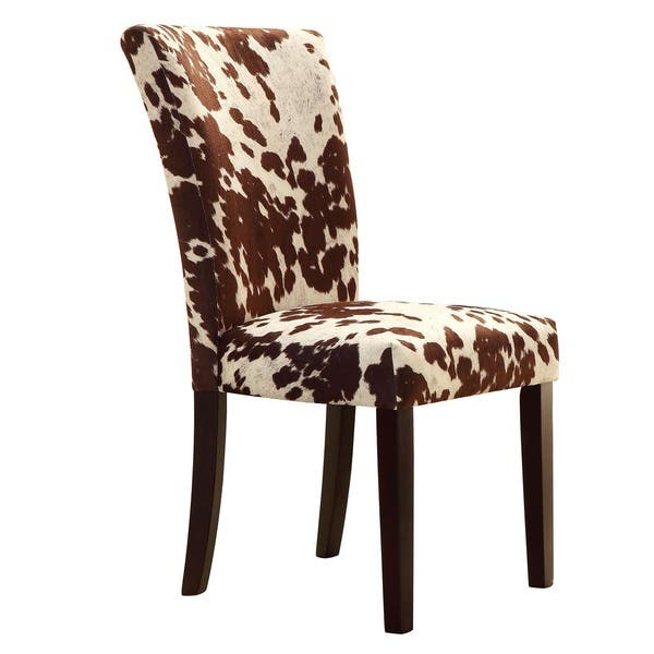 Astonishing Shop Portman Cow Hide Parson Dining Chairs Set Of 2 By Bralicious Painted Fabric Chair Ideas Braliciousco