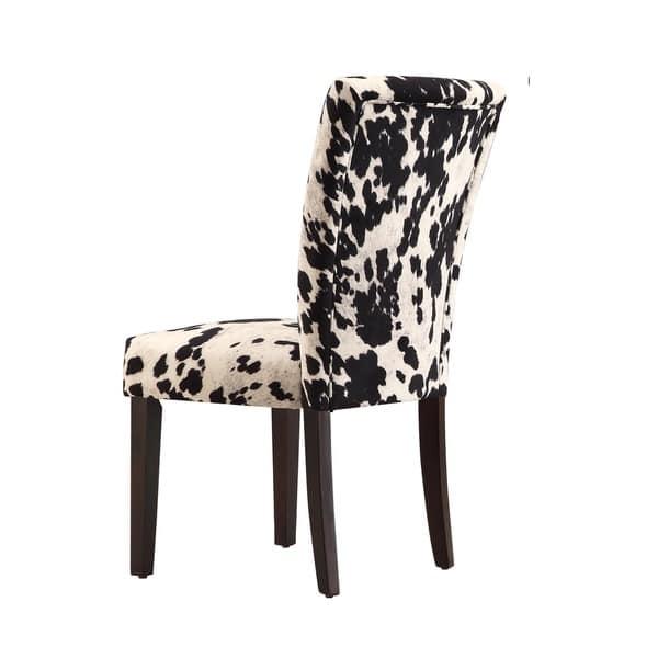 Enjoyable Shop Portman Cow Hide Parson Dining Chairs Set Of 2 By Bralicious Painted Fabric Chair Ideas Braliciousco