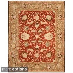 Safavieh Handmade Anatolia Oriental Rust/ Green Hand-spun Wool Rug