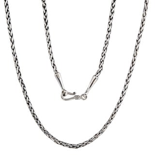 Handmade Bali .925 Sterling Silver Traditional Woven Necklace (Indonesia)