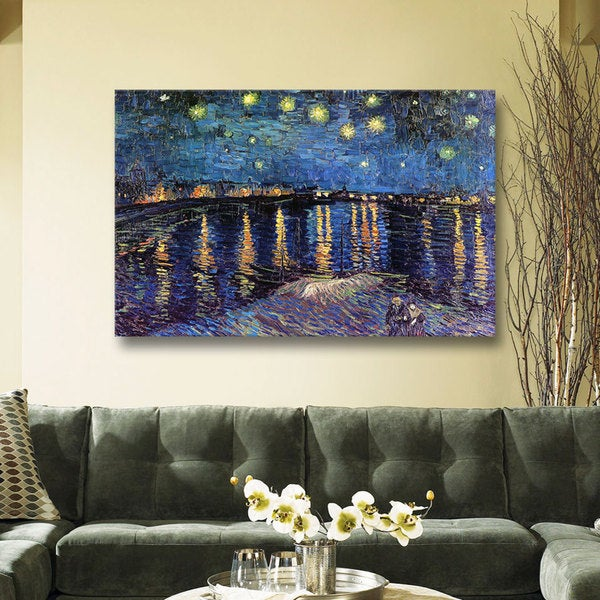 VanGogh 'Starry Night Under the Rhone' Canvas