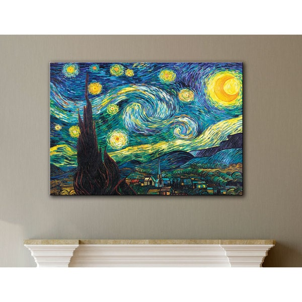 6f35a9b50a Shop Vincent van Gogh  Starry Night  Wrapped Canvas - On Sale - Free ...