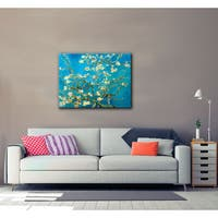 VanGogh 'Blossoming Almond Tree' Wrapped Canvas - multi