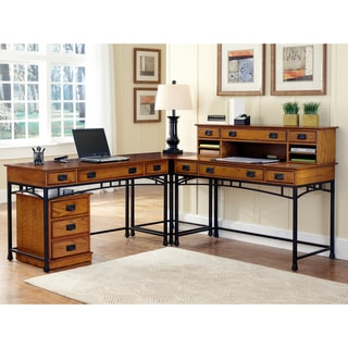 Home Styles Modern Craftsman Corner 'L' Desk/ Mobile File