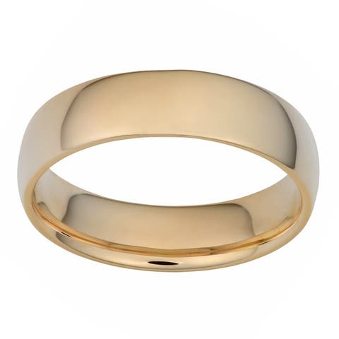 14k Yellow Gold Comfort Fit Wedding Band (6-mm)