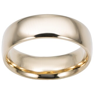 Fremada 14k Yellow Gold 6-mm Comfort Fit Wedding Band (More options available)