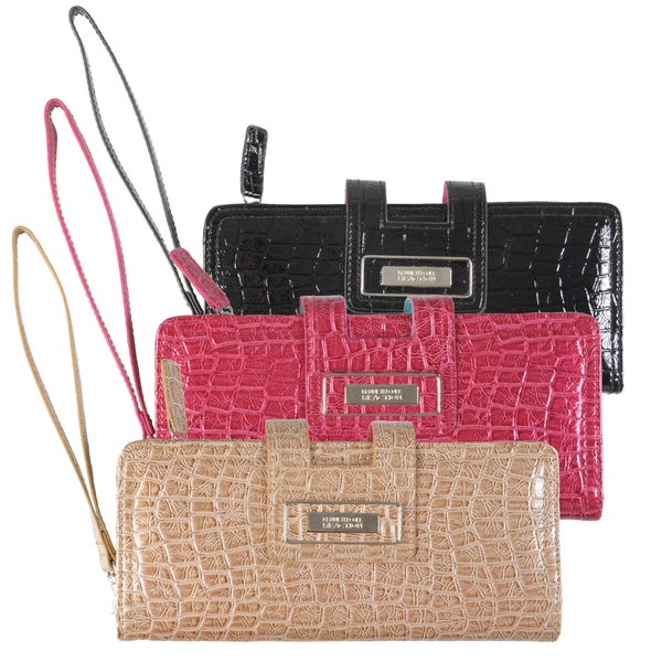Kenneth Cole Reaction Women's Croc Print Tab Clutch with Strap
