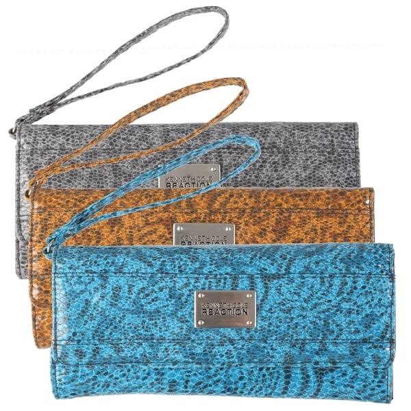 Kenneth Cole Reaction Women's Snake Print Clutch Wallet