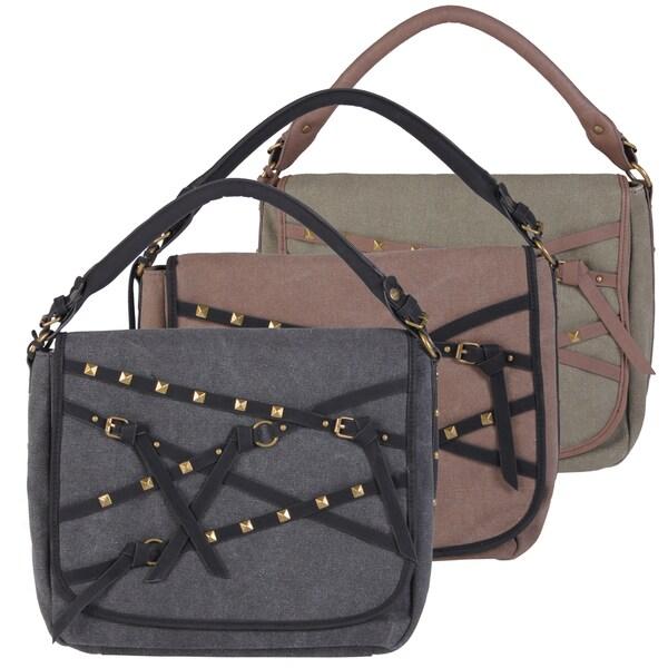 Buffalo David Bitton Fold Over Canvas Handbag