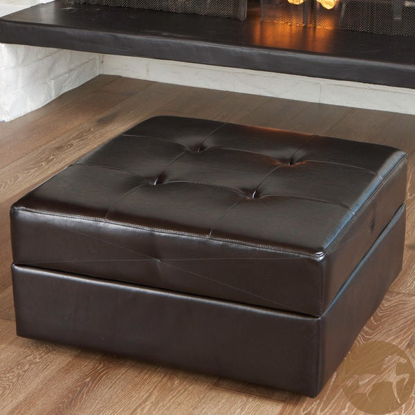 Burlington Espresso Brown Storage Ottoman by Christopher Knight Home